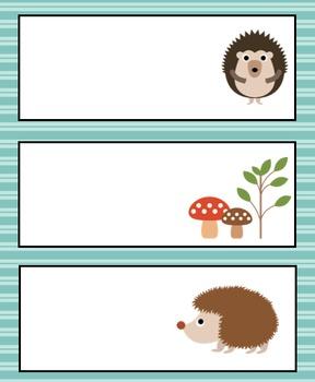 Hedgehog Schedule Cards!