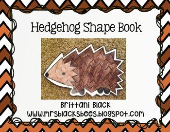 Hedgehog Shape Book