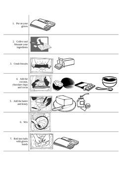 Hedgehog Slice recipe Worksheet