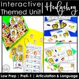 Interactive Woodland Hedgehog Themed Speech Language Unit