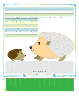 Hedgehog Tracing and Cutting - Fine Motor Skills Practice - Autumn