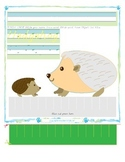 Hedgehog Tracing and Cutting - Fine Motor Skills Practice