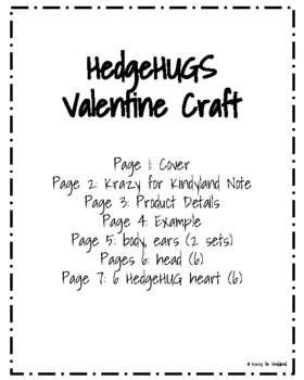 Hedgehog Valentine Craft: HedgeHUGS and Kisses