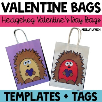 Hedgehog Valentine's Day Treat Bags