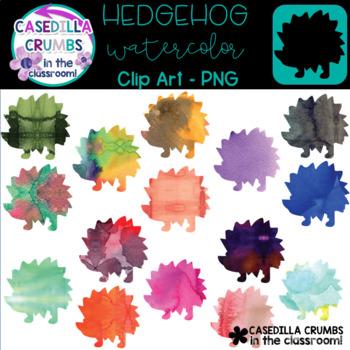 Hedgehog Watercolor Clip Art - 12 Images