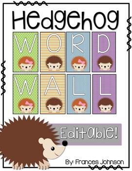Hedgehog Word Wall