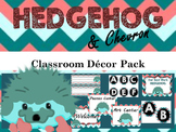 Hedgehog and Chevron Name Tags,Labels Classroom Decor Pack