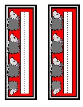 Hedgehog cute gray red black nameplate name plate