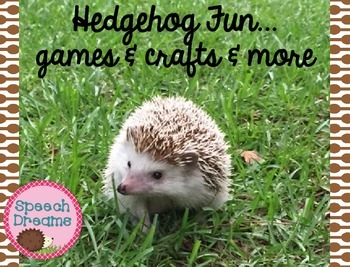 Pet games and crafts for speech therapy {reading & respond