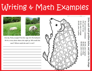 Hedgehog biology mini-unit lesson plan