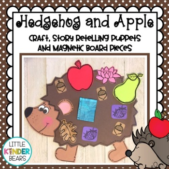 Hedgehogs and Apples Craft: Apple Theme: Story Retelling Puppets