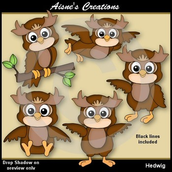Hedwig Owl Clip Art