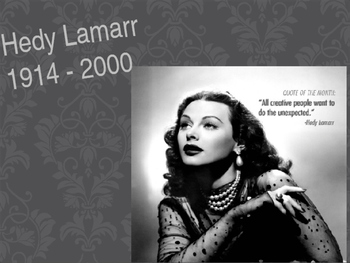 Hedy Lamarr-Biography, graphic organizer, video clip, journal entry