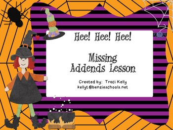 Hee! Hee! Hee! Missing Addends Halloween