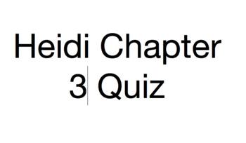 Heidi Ch. 3 Quiz