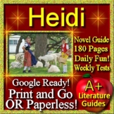 Heidi Novel Study - Free Quiz for the Guide! Johanna Spyri