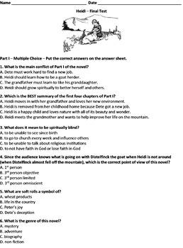 Heidi Common Core Aligned Test Bundle