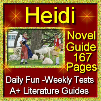 Heidi Unit Novel Study Common Core Aligned