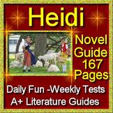 Heidi Unit Novel Study Common Core Aligned