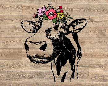 I Want a Baby Cow Festival Tank Screw Flowers
