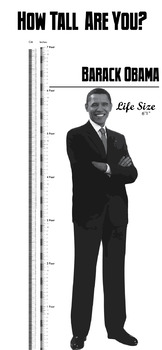 Height Chart - Barack Obama Life Size Poster (about 4 by 8 feet)