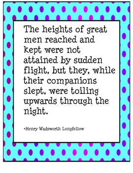 Heights of Great Men - Quote