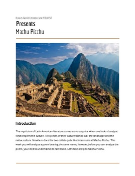 Heights of Machu Picchu Virtual Field Trip