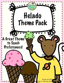 Helado Ice Cream Preferences THEME PACK Spanish Printable Minibooks