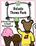 Helado Ice Cream Preferences THEME PACK Spanish Printable