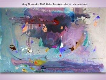 Helen Frankenthaler Art SHOW + TEST = 215 Slides Abstract Color Field