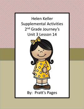 Helen Keler Supplemental Activities for Journey's Unit 3 Lesson 14