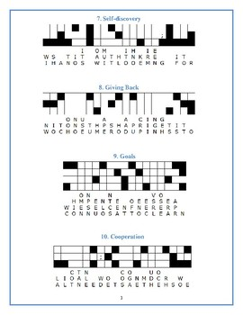 Helen Keller—10 Quotefall puzzles—Inspiring! Great Spelling Workout!