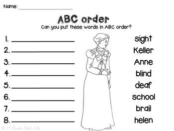 Helen Keller By 1st Grade Salt Life Teachers Pay Teachers