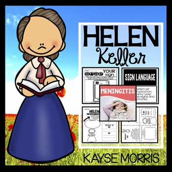 Helen Keller Activities for Women's History Month