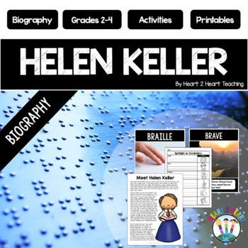 Helen Keller Biography Unit w/Articles, Activities, & Flip Book