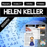 The Life Story of Helen Keller Biography Unit Articles, Activities, & Flip Book