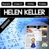 The Life Story of Helen Keller Biography Unit Articles, Activities, & Flip Book