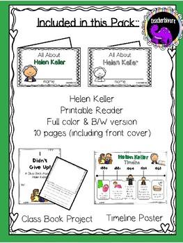 Helen Keller Activity Pack