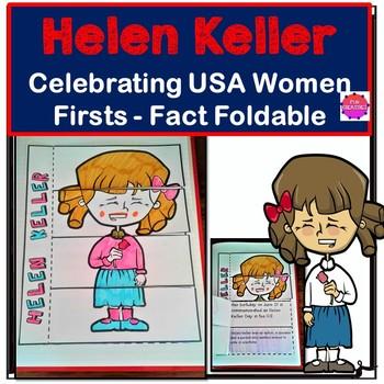 Helen Keller Amelia Earhart Foldable Activity-Women Firsts