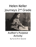 Helen Keller Author's Purpose Activity