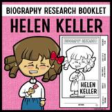 Helen Keller Biography Research Booklet