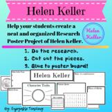 Helen Keller Biography Research Poster Kit