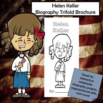 Helen Keller Biography Trifold Brochure