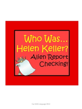 """Helen Keller Biography by Thompson """"Who Was..."""" Comprehens"""