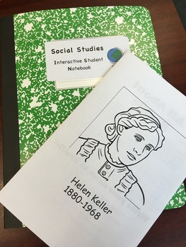 Editable Helen Keller Booklet