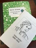 Editable Helen Keller Booklet