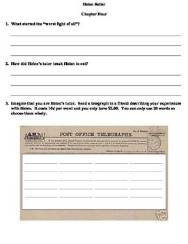 Helen Keller (By: Margaret Davidson) Reading Worksheets
