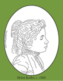 Helen Keller Clip Art, Coloring Page or Mini Poster