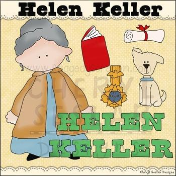 Helen Keller Clipart Collection