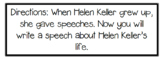 Helen Keller Close Read/ Learning to Analyze texts